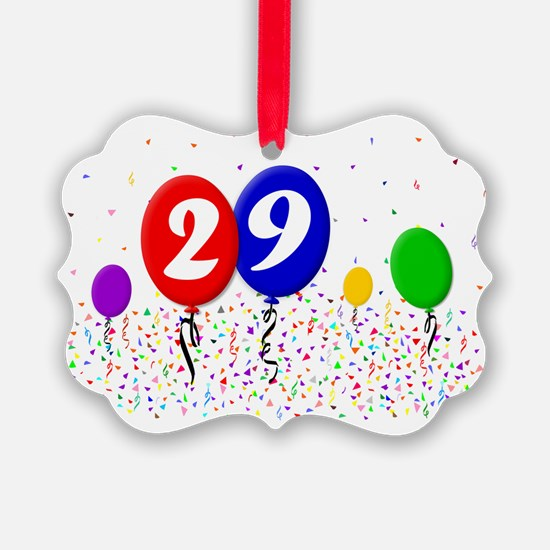 29bdayballoon2x3 Ornament