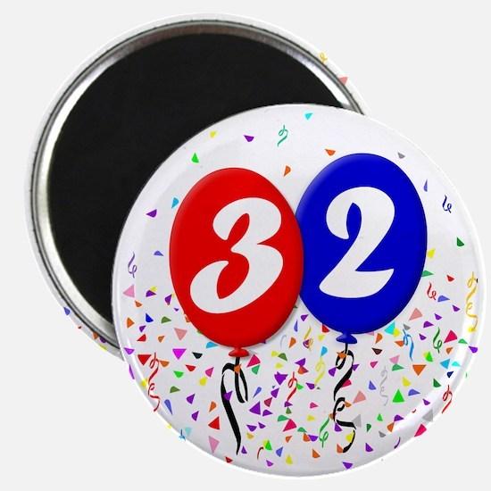 32bdayballoon Magnet