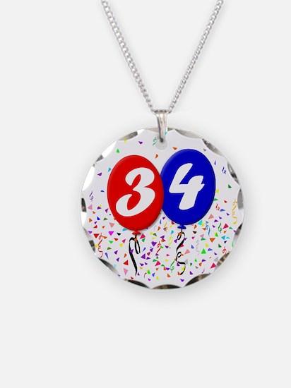 34bdayballoon Necklace