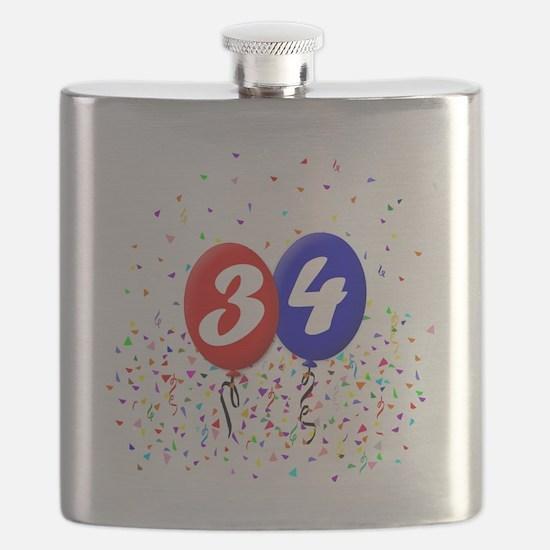 34bdayballoonbtn Flask