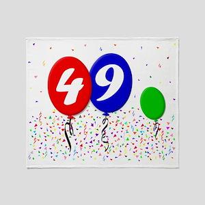 49bdayballoon3x4 Throw Blanket