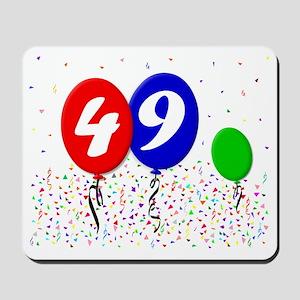 49bdayballoon3x4 Mousepad
