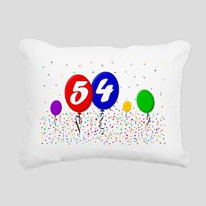 54bdayballoon2x3 Rectangular Canvas Pillow