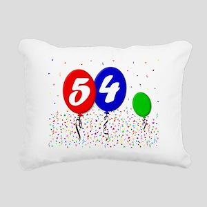 54bdayballoon3x4 Rectangular Canvas Pillow