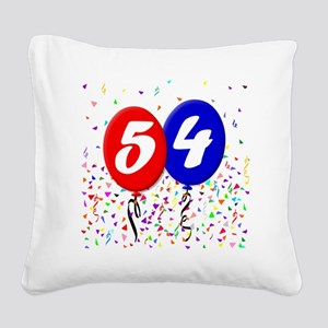 54bdayballoon Square Canvas Pillow