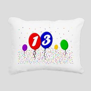 13bdayballoon2x3 Rectangular Canvas Pillow