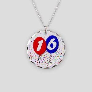 16bdayballoon Necklace Circle Charm