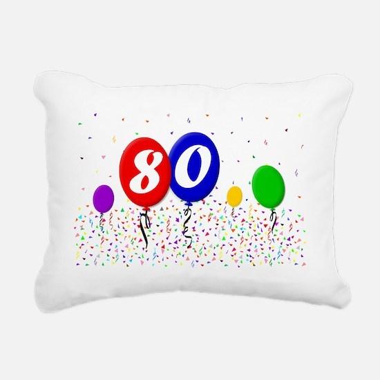 80bdayballoon2x3 Rectangular Canvas Pillow