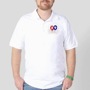 84bdayballoonbtn Golf Shirt