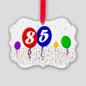 85bdayballoon2x3 Picture Ornament
