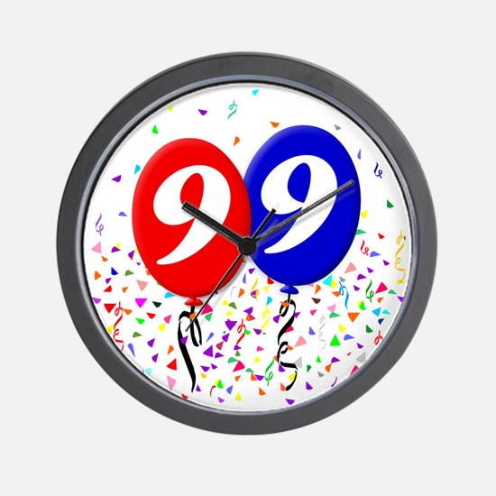 99bdayballoon Wall Clock