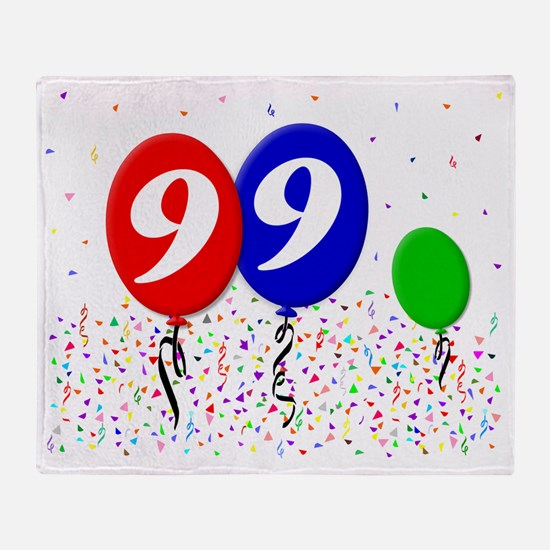 99bdayballoon3x4 Throw Blanket