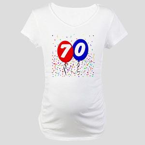 70_bdayballoon Maternity T-Shirt