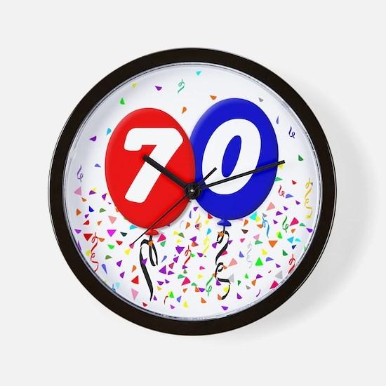 70_bdayballoon Wall Clock