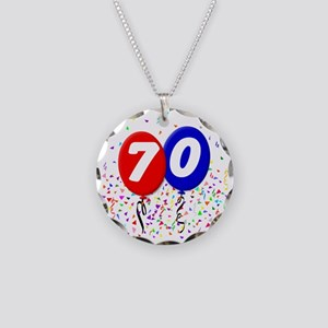 70_bdayballoon Necklace Circle Charm