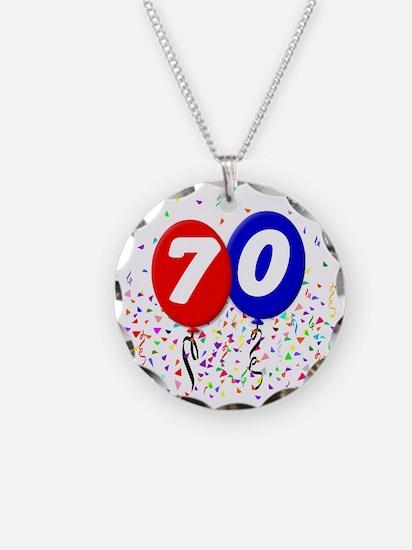 70_bdayballoon Necklace Circle Charm