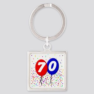 70_bdayballoon Square Keychain