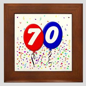 70_bdayballoon Framed Tile