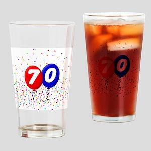 70_bdayballoonbtn Drinking Glass