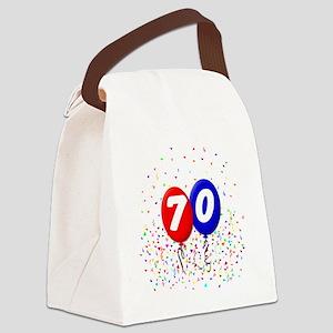 70_bdayballoonbtn Canvas Lunch Bag