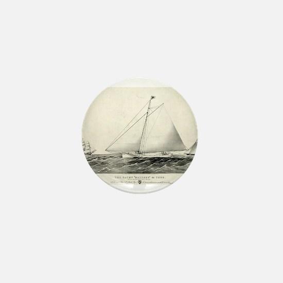 The yacht Mallory - 1861 Mini Button