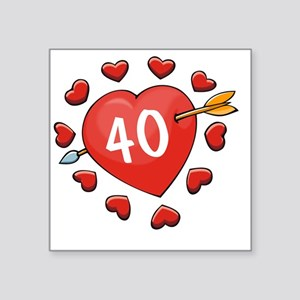 "40ahrt Square Sticker 3"" x 3"""