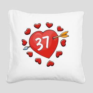 37ahrt Square Canvas Pillow