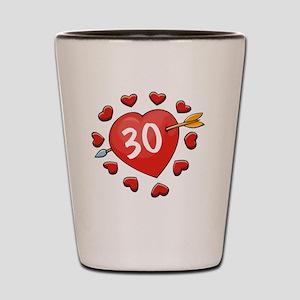 30ahrtbtn Shot Glass