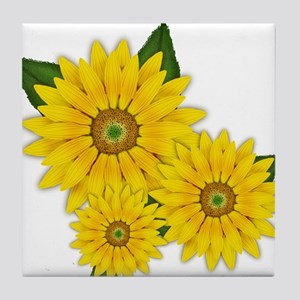 Trio of Sunflowers Tile Coaster