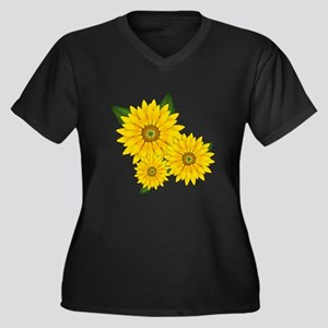Trio of Sunflowers Plus Size T-Shirt