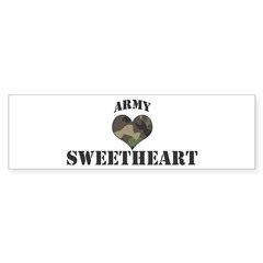 Sweetheart: Camo Heart Bumper Bumper Sticker