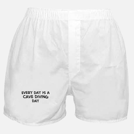Cave Diving day Boxer Shorts