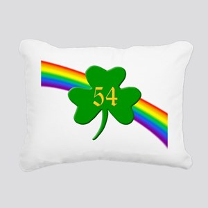 Rainbow Shamrock 54 Rectangular Canvas Pillow
