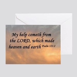 Psalm 121 greeting cards cafepress psalm 1212 sunset greeting card m4hsunfo