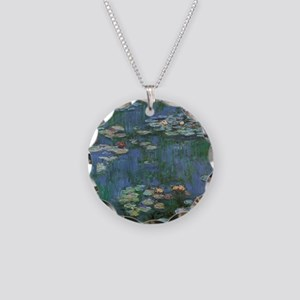 Waterlilies by Claude Monet Necklace Circle Charm