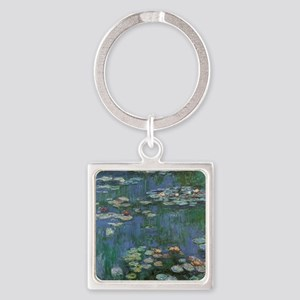 Waterlilies by Claude Monet Square Keychain