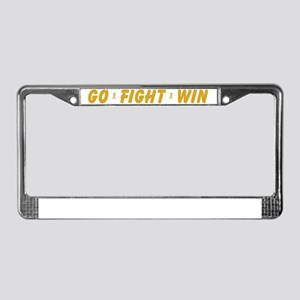Gold Go Fight Win License Plate Frame