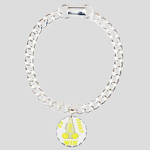 Yellow GO FIGHT WIN Charm Bracelet, One Charm