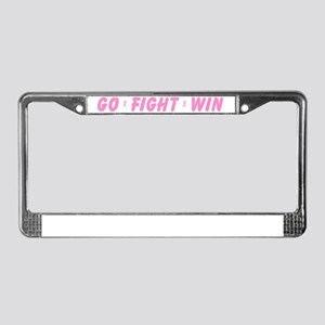 Pink Go Fight Win License Plate Frame