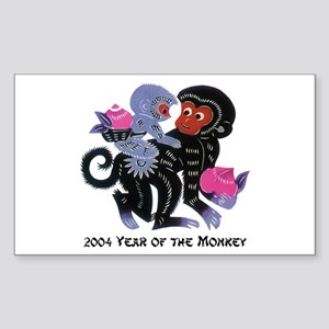 2004 Year Of The Monkey Sticker (Rectangle)