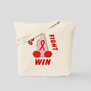 Red GO FIGHT WIN Tote Bag