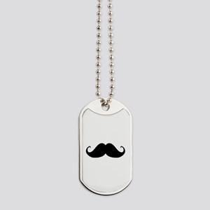 Mustach Dog Tags