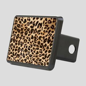 Leopard Gold/Black Print Rectangular Hitch Cover