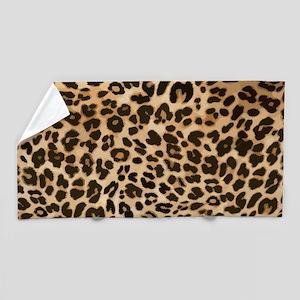 Leopard Gold/Black Print Beach Towel