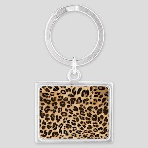 Leopard Gold/Black Print Landscape Keychain