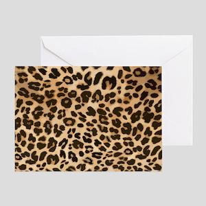 Leopard Gold/Black Print Greeting Card