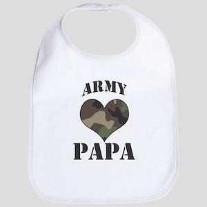 Papa: Camo Heart Bib