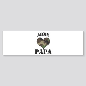 Papa: Camo Heart Bumper Sticker