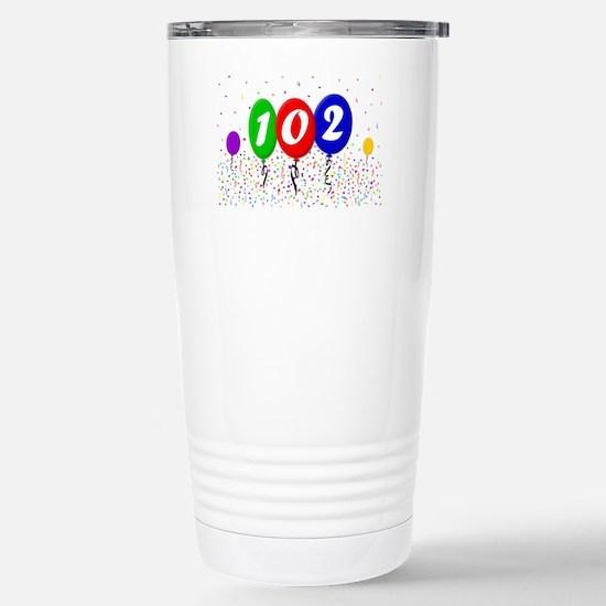 102nd Birthday Stainless Steel Travel Mug