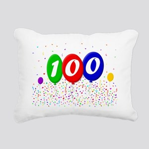 100th Birthday Rectangular Canvas Pillow